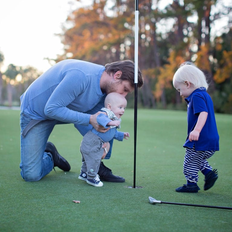 children who play golf