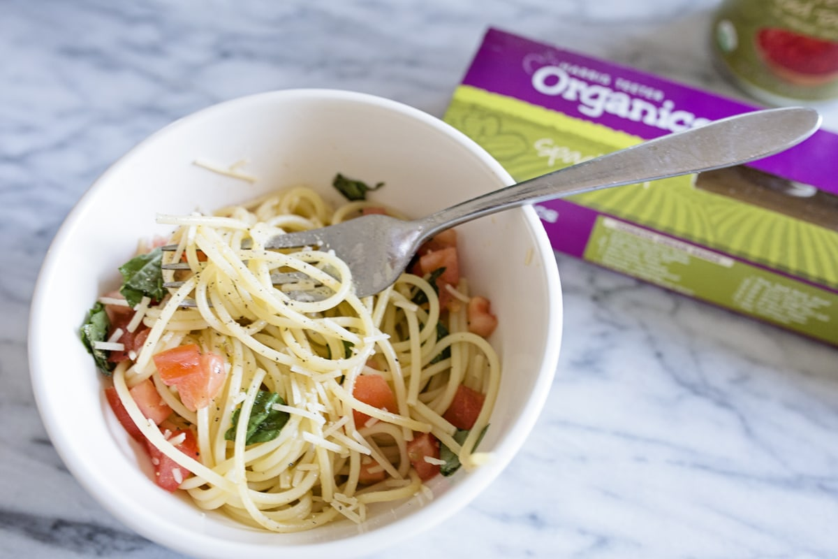 Healthy Organic Easy Monday Pasta Dish
