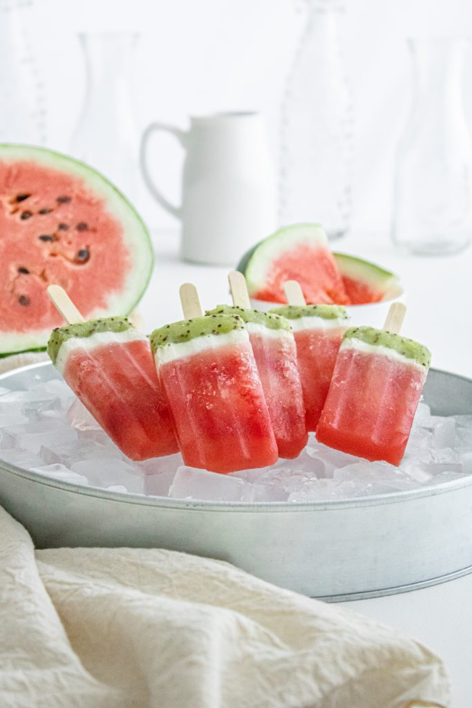 Cute Watermelon Popsicle Recipe to try this summer from Mom Blogger Amber Faust